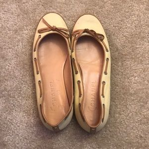 Chanel Yellow boat shoe flats- 38